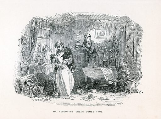 Illustration for David Copperfield by Charles Dickens (Caxton Publishing, c 1900).
