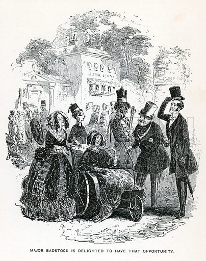 Illustration for Dombey and Son by Charles Dickens (Caxton Publishing, c 1900).