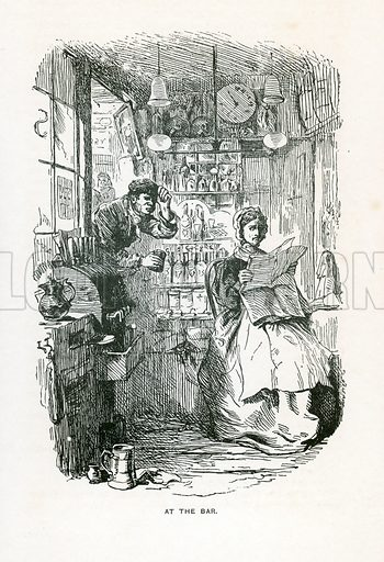 Illustration for Our Mutual Friend by Charles Dickens (Caxton Publishing, c 1900).