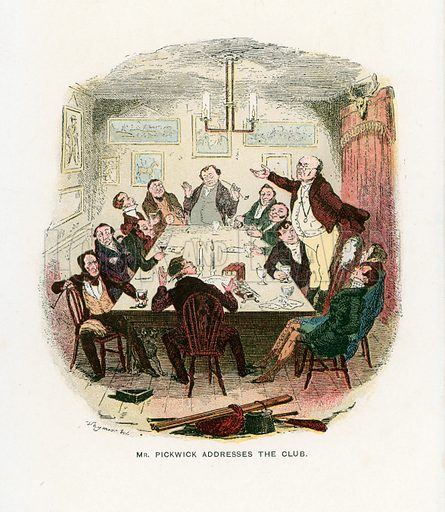 Illustration for the Pickwick Papers by Charles Dickens (Caxton Publishing, c 1900).