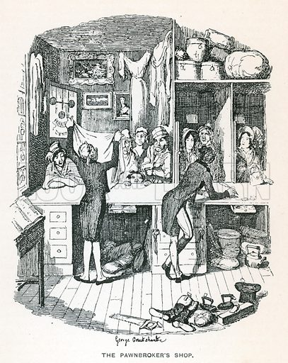 Illustration for Sketches by Boz by Charles Dickens (Caxton Publishing, c 1900).