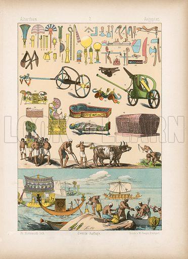 Egypt. Illustration for Trachten by Friedrich Hottenroth (Verlag von Gustav Weise, 1884).