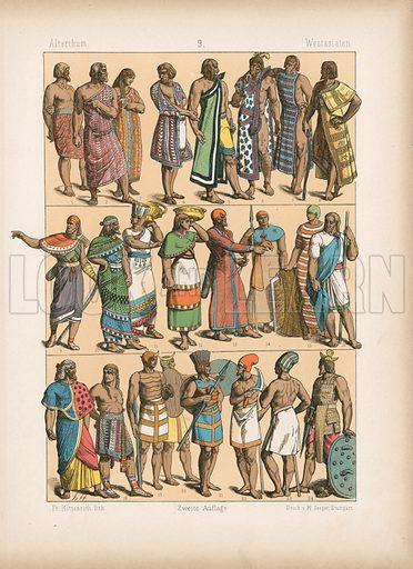West Asia. Illustration for Trachten by Friedrich Hottenroth (Verlag von Gustav Weise, 1884).
