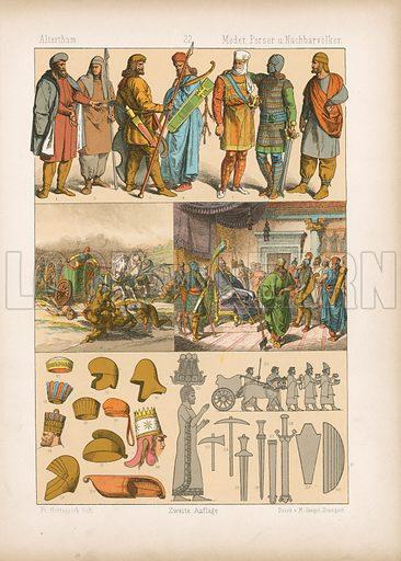 Persia. Illustration for Trachten by Friedrich Hottenroth (Verlag von Gustav Weise, 1884).