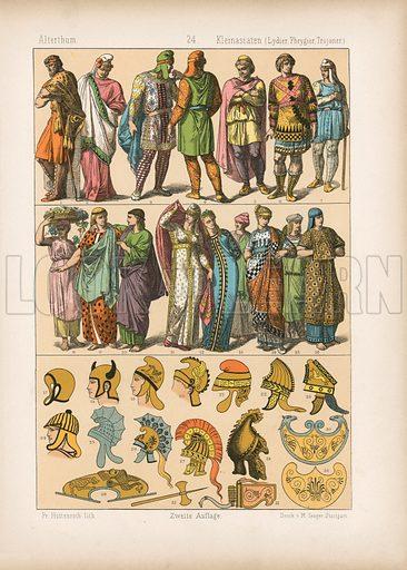 Lydia, Phrygia and Troy. Illustration for Trachten by Friedrich Hottenroth (Verlag von Gustav Weise, 1884).