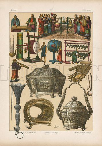 Illustration for Trachten by Friedrich Hottenroth (Verlag von Gustav Weise, 1884).