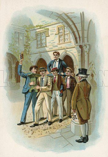 Illustration for Tom Brown's School Days by Thomas Hughes (Hurst, c 1890).