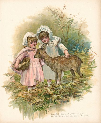 Three little dears. Illustration for Nister's Holiday Annual 1894.