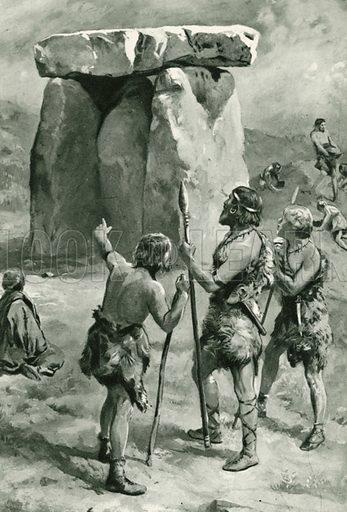 Kit's Coty House. Illustration for Little Treasure Island by Arthur Mee (Hodder and Stoughton, c 1920).