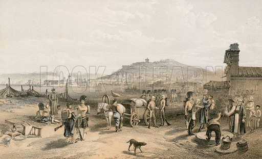 Kertch from the north. Illustration for The Campaign in the Crimea by George Brackenbury (Colnaghi, 1856).