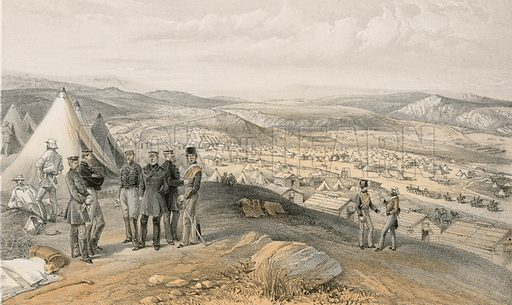 Cavalry camp, 9 July 1855. Illustration for The Campaign in the Crimea by George Brackenbury (Colnaghi, 1856).