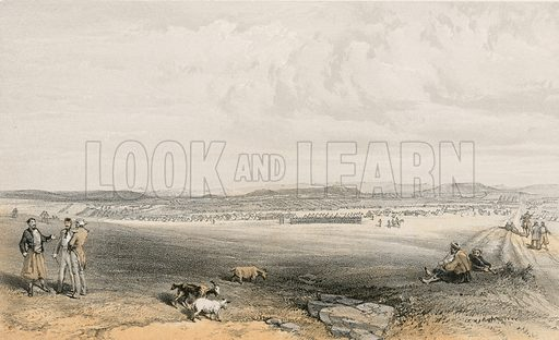 Camp of the Light Division. Illustration for The Campaign in the Crimea by George Brackenbury (Colnaghi, 1856).