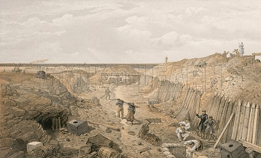 Ditch of the Bastion du Mat. Illustration for The Campaign in the Crimea by George Brackenbury (Colnaghi, 1856).