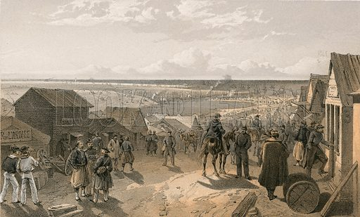 Kamiesch. Illustration for The Campaign in the Crimea by George Brackenbury (Colnaghi, 1856).