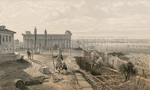 Church of St Peter and St Paul. Illustration for The Campaign in the Crimea by George Brackenbury (Colnaghi, 1856).