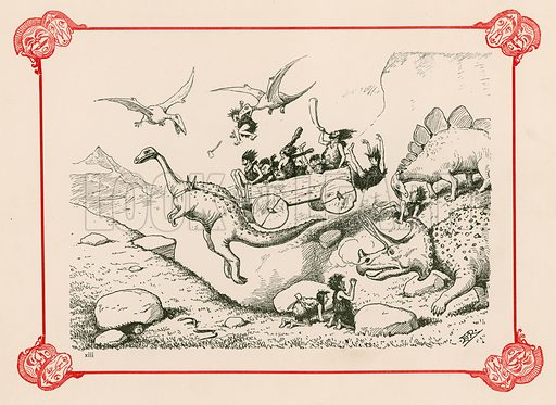 picture, Edward Tennyson Reed, cartoonist, artist, illustrator, dinosaurs, prehistoric
