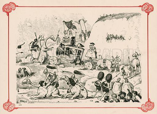Prehistoric Lord Mayor's Show. Illustration for Prehistoric Peeps from Punch (Bradbury, Agnew, c 1900).