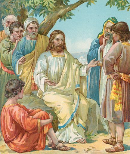 Christ and disciples, picture, image, illustration