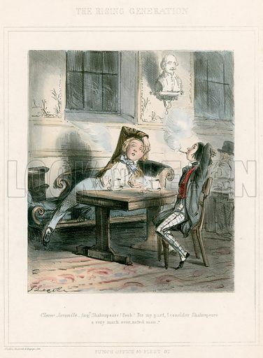 Shakespeare Punch Cartoon by Leech,  picture, image, illustration