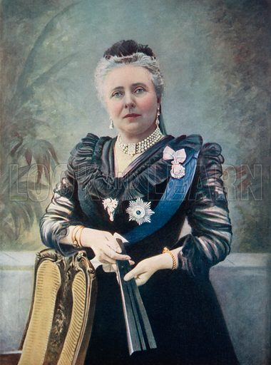 The Dowager Empress Frederick of Germany. Coloured photograph from Royalties of the World (George Newnes, 1901).
