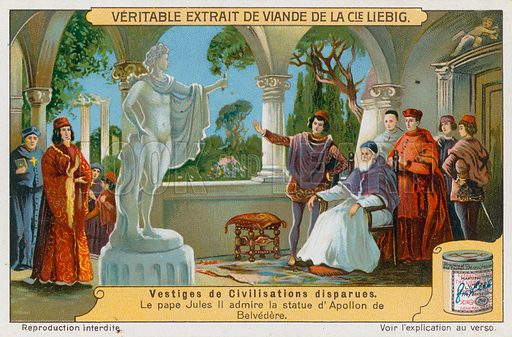 Remains of ancient civilisations. Liebig card, early 20th century. Chromolithograph.
