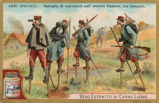 Special arms.  Liebig card, early 20th century.  Chromolithograph.