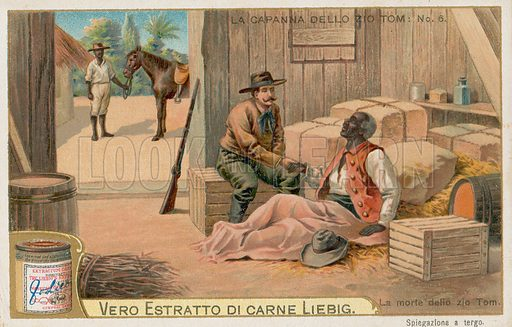 Uncle Tom's Cabin. Liebig card, early 20th century. Chromolithograph.
