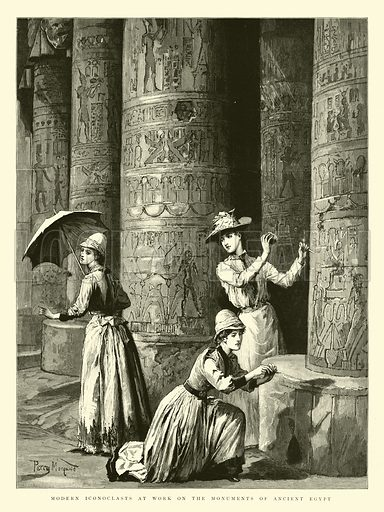 Modern Iconoclasts at Work on the Monuments of Ancient Egypt. Illustration for The Graphic, 26 July 1890.