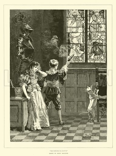 Iconoclasts. Illustration for The Graphic, 14 April 1883.