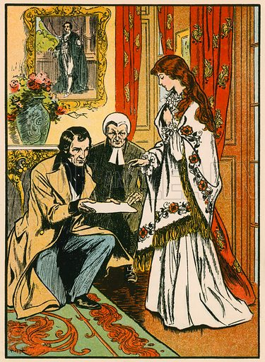 God Save the Queen. Accession of Queen Victoria. Illustration for Tales and Talks from History (Blackie, c 1910).