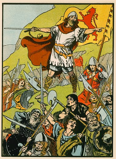 Wallace directing his soldiers. Illustration for Tales and Talks from History (Blackie, c 1910).