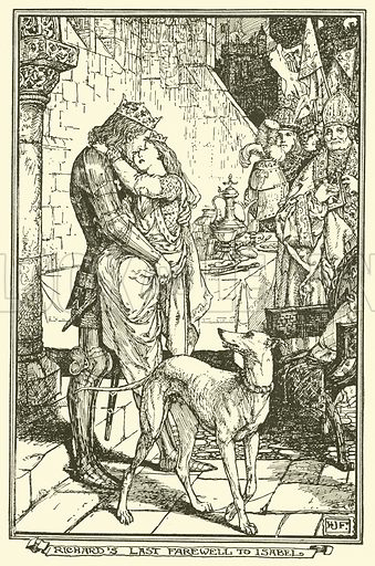 Richard's Last Farewell to Isabel. Illustration for The Book of Princes and Princesses by Mrs Lang (Longmans, 1908).