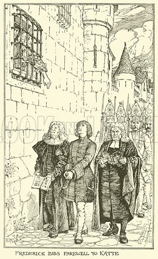 Frederick Bids Farewell to Katte. Illustration for The Book of Princes and Princesses by Mrs Lang (Longmans, 1908).