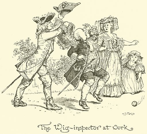 The Wig-Inspector at Work. Illustration for The Book of Princes and Princesses by Mrs Lang (Longmans, 1908).