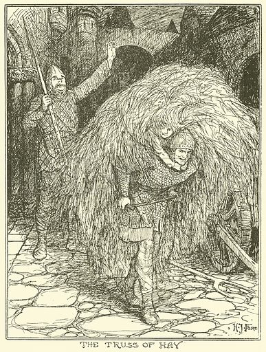 The Truss of Hay. Illustration for The Book of Princes and Princesses by Mrs Lang (Longmans, 1908).