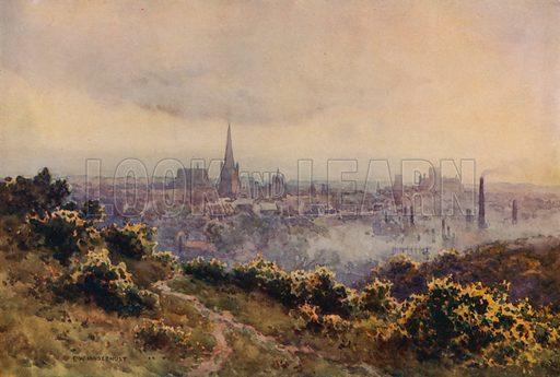Norwich from Mousehold Heath. Illustration for Our Beautiful Homeland (Gresham, c 1910).