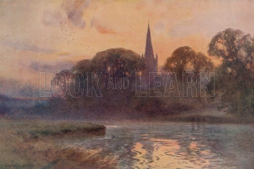 Holy Trinity Church, Stratford-on-Avon. Illustration for Our Beautiful Homeland (Gresham, c 1910).