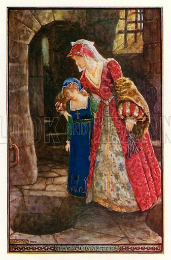 The Oubliettes. Illustration for The Book of Princes and Princesses by Mrs Lang (Longmans, 1908).