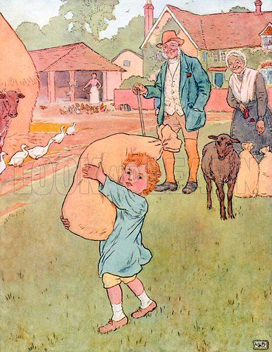 Baa, Baa, Black Sheep. Illustration for A Nursery Rhyme Picture Book (Frederick Warne, c 1900).