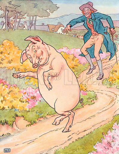 To Market, to Market. Illustration for A Nursery Rhyme Picture Book (Frederick Warne, c 1900).