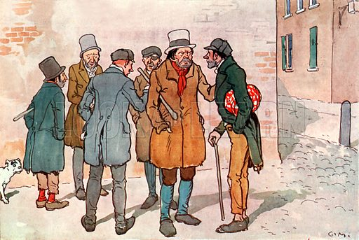 The first policemen. Illustration for A nursery History of England by Elizabeth o' Neill (Jack, c 1920).