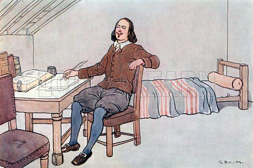 The writer of The Pilgrim's Progress. Illustration for A nursery History of England by Elizabeth o' Neill (Jack, c 1920).