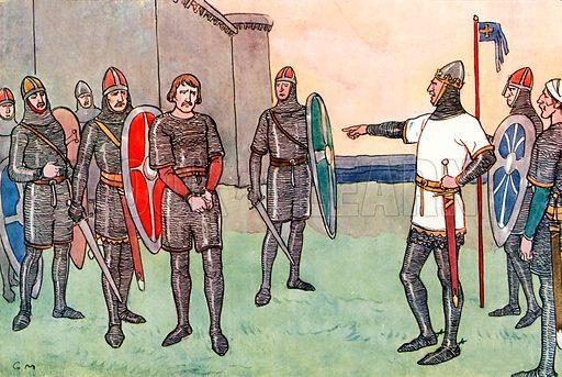 Duke Robert of Normandy. Illustration for A nursery History of England by Elizabeth o' Neill (Jack, c 1920).