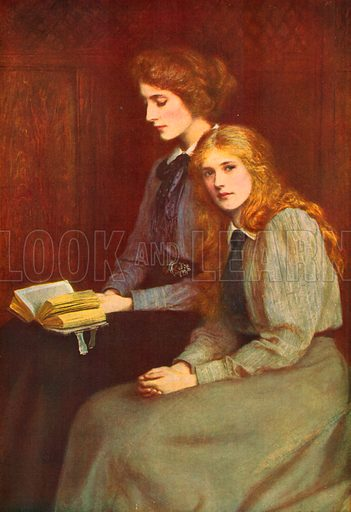 The Sisters. Included in Modern Masterpieces of British Art (Amalgamated Press, c 1910).