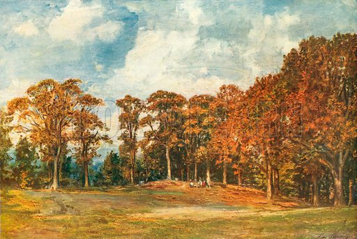 Grove at Bridgnorth. Included in Modern Masterpieces of British Art (Amalgamated Press, c 1910).