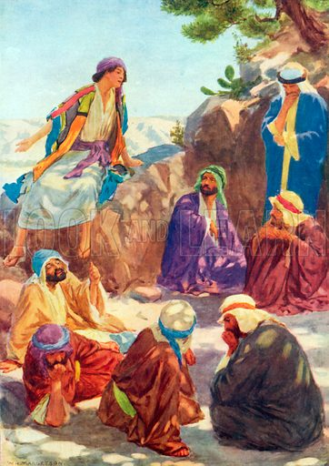Joseph Telling his Dream. Illustration for The Bible Picture Book.