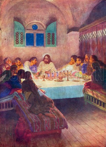 The Last Supper. Illustration for The Bible Picture Book.