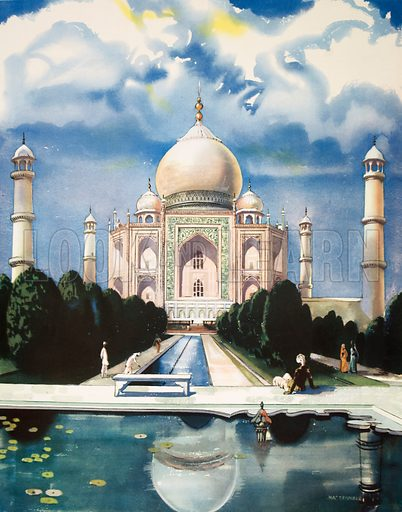 Macmillan's History Pictures. The Taj Mahal. Original poster for sale for £50 including VAT and postage within the UK.