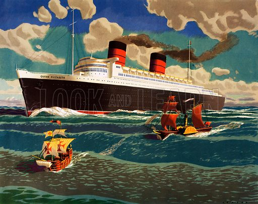 Macmillan's History pictures. Three Notable ships. Original poster for sale for £50 including VAT and postage within the UK.