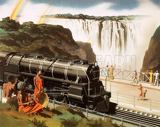 The Victoria Fall bridge, S. Rhodesia. Macmillan poster. Original poster for sale for £50 including VAT and postage within the UK.